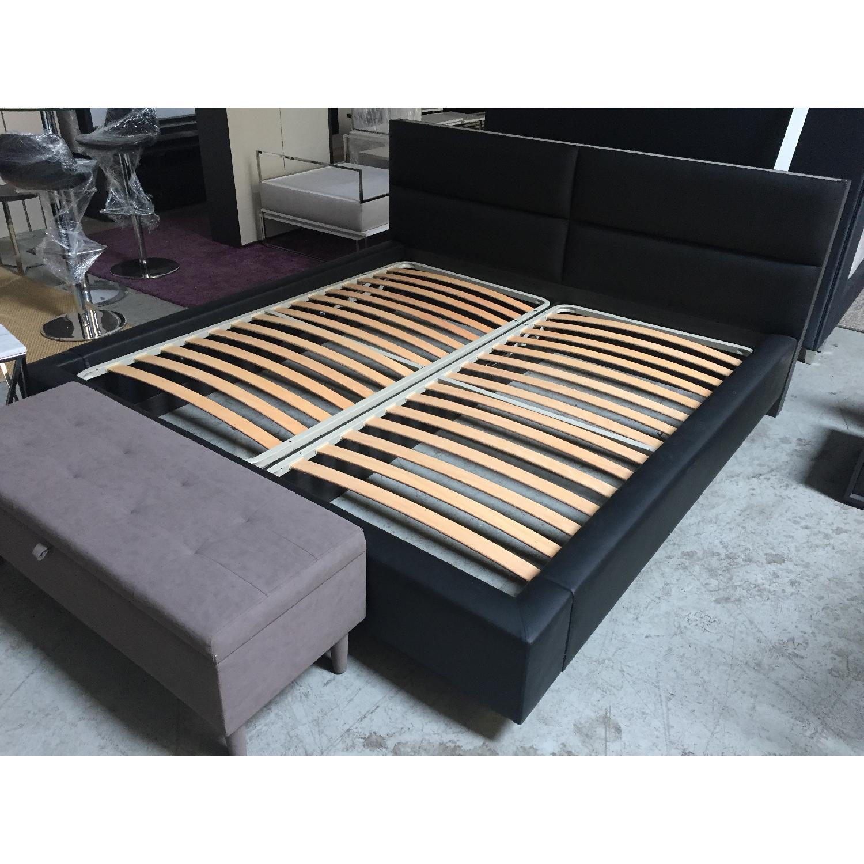 Lazzoni Black King Size Bed Frame - image-1