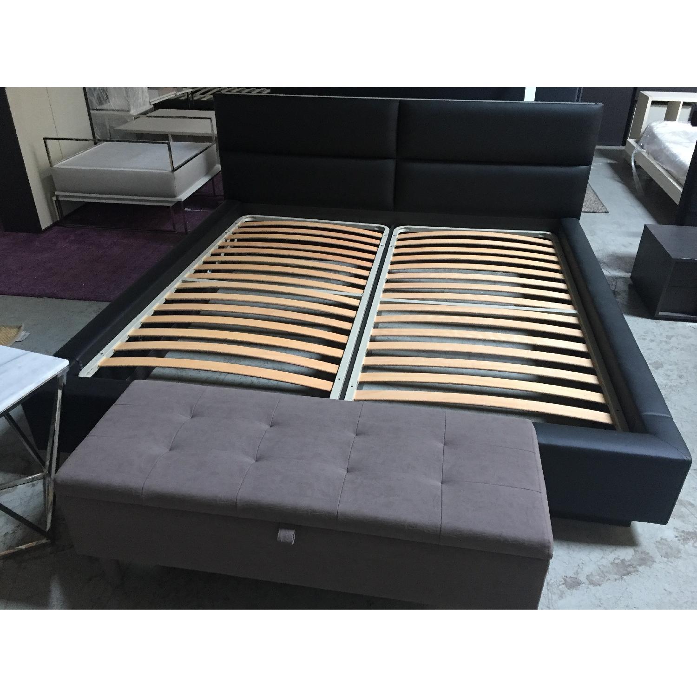 Lazzoni Black King Size Bed Frame - image-2