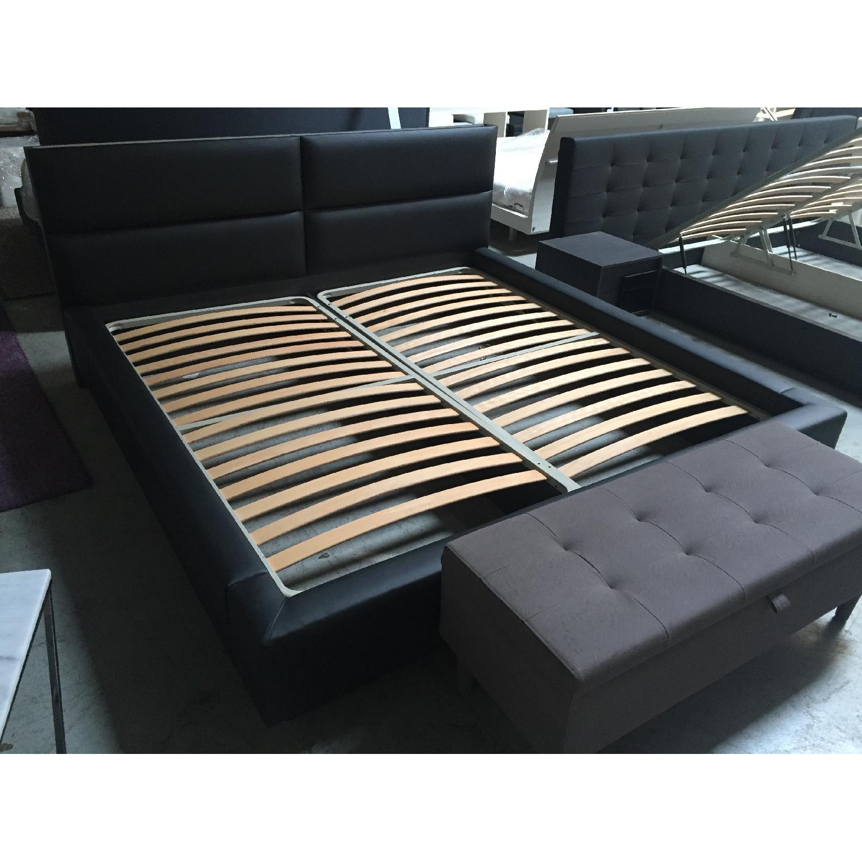 Lazzoni Black King Size Bed Frame - image-3