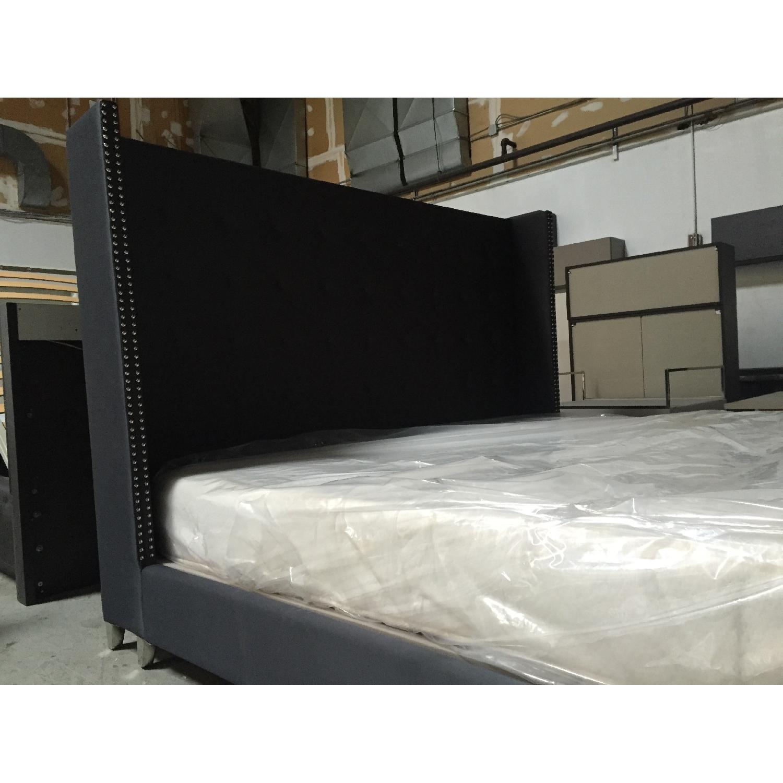 Lazzoni Black King Size Bed Frame - image-7