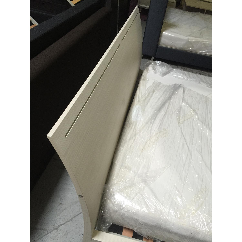 Lazzoni White King Size Bed Frame - image-6