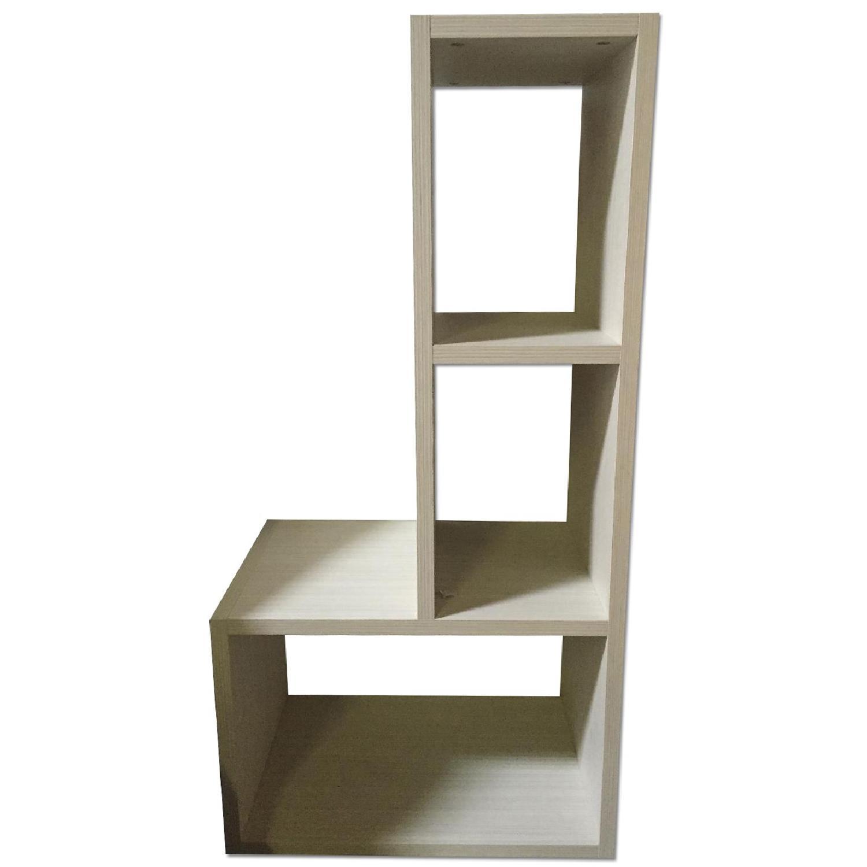 Lazzoni White Bookshelves - image-0
