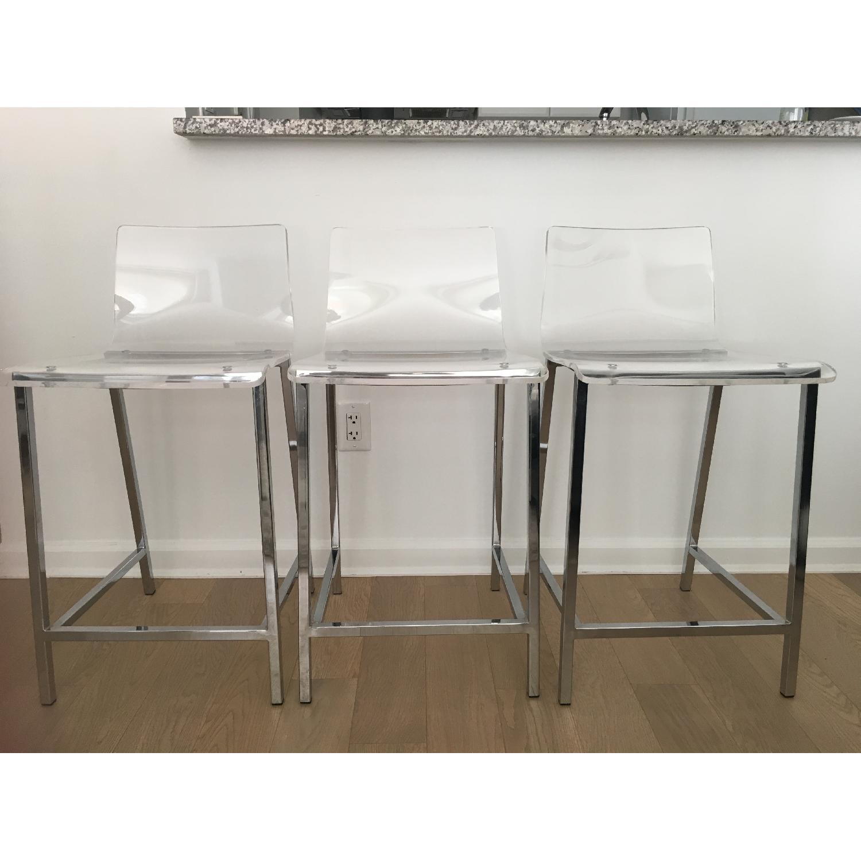 CB2 Vapor Acrylic Bar Stools - image-3