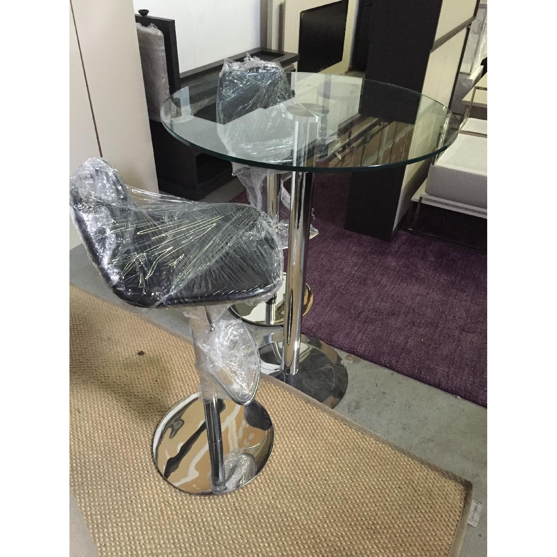 Lazzoni Chrome Based Table w/ 2 Piston Adjustable Chairs - image-3