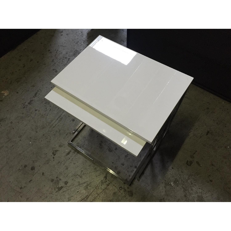 Lazzoni White Nesting Tables - image-1