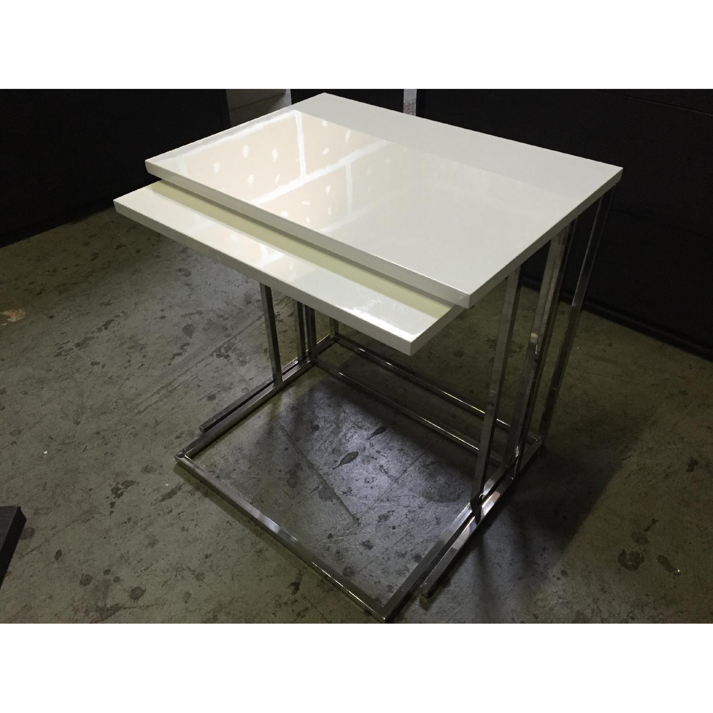 Lazzoni White Nesting Tables - image-2