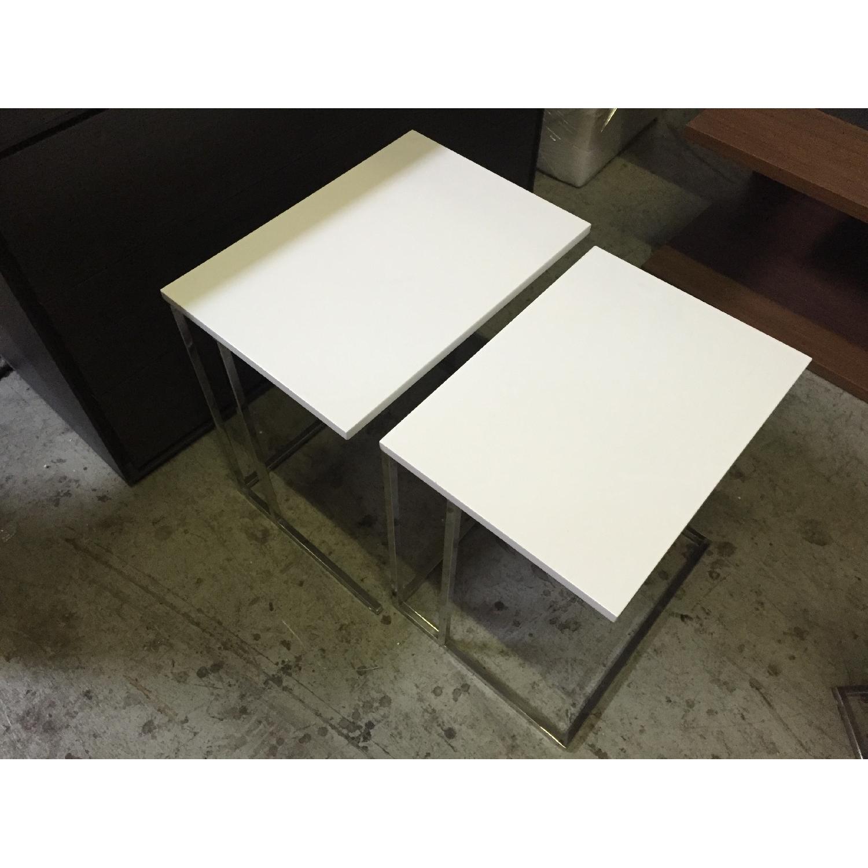 Lazzoni White Nesting Tables - image-4