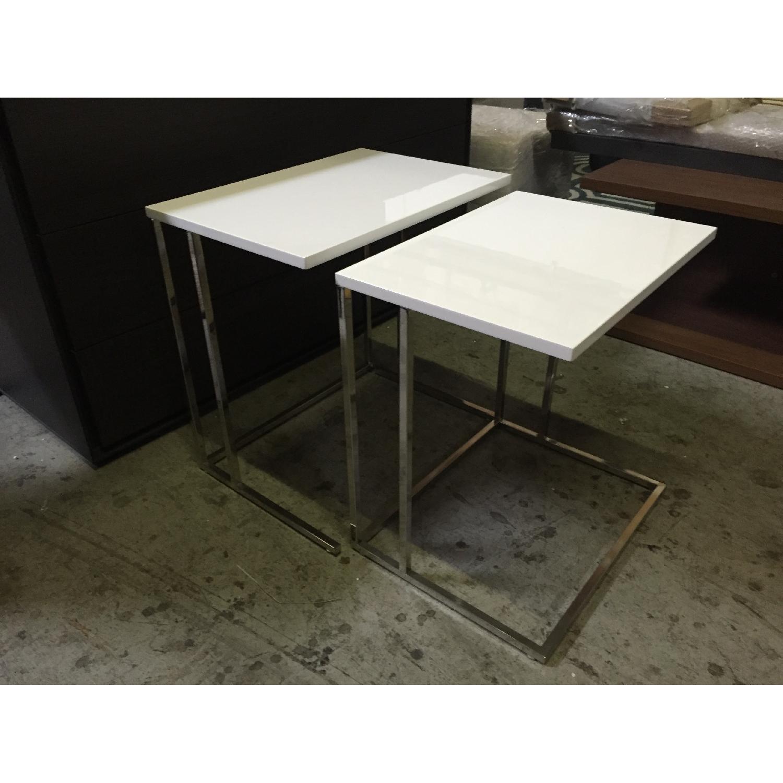 Lazzoni White Nesting Tables - image-5