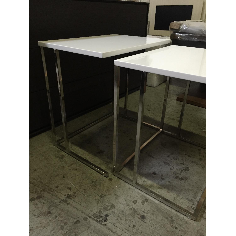 Lazzoni White Nesting Tables - image-6