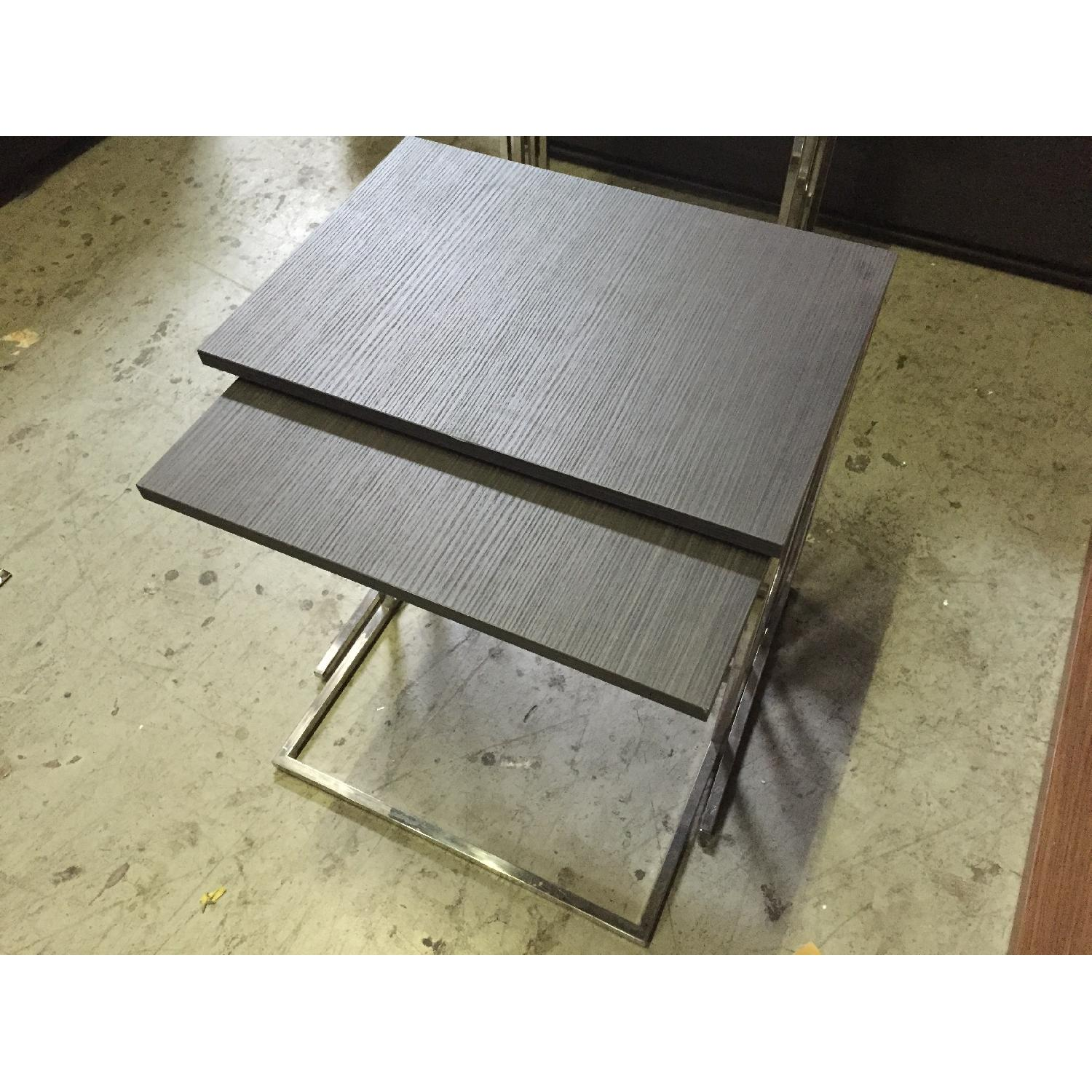 Lazzoni Brown Wood Nesting Tables - image-2