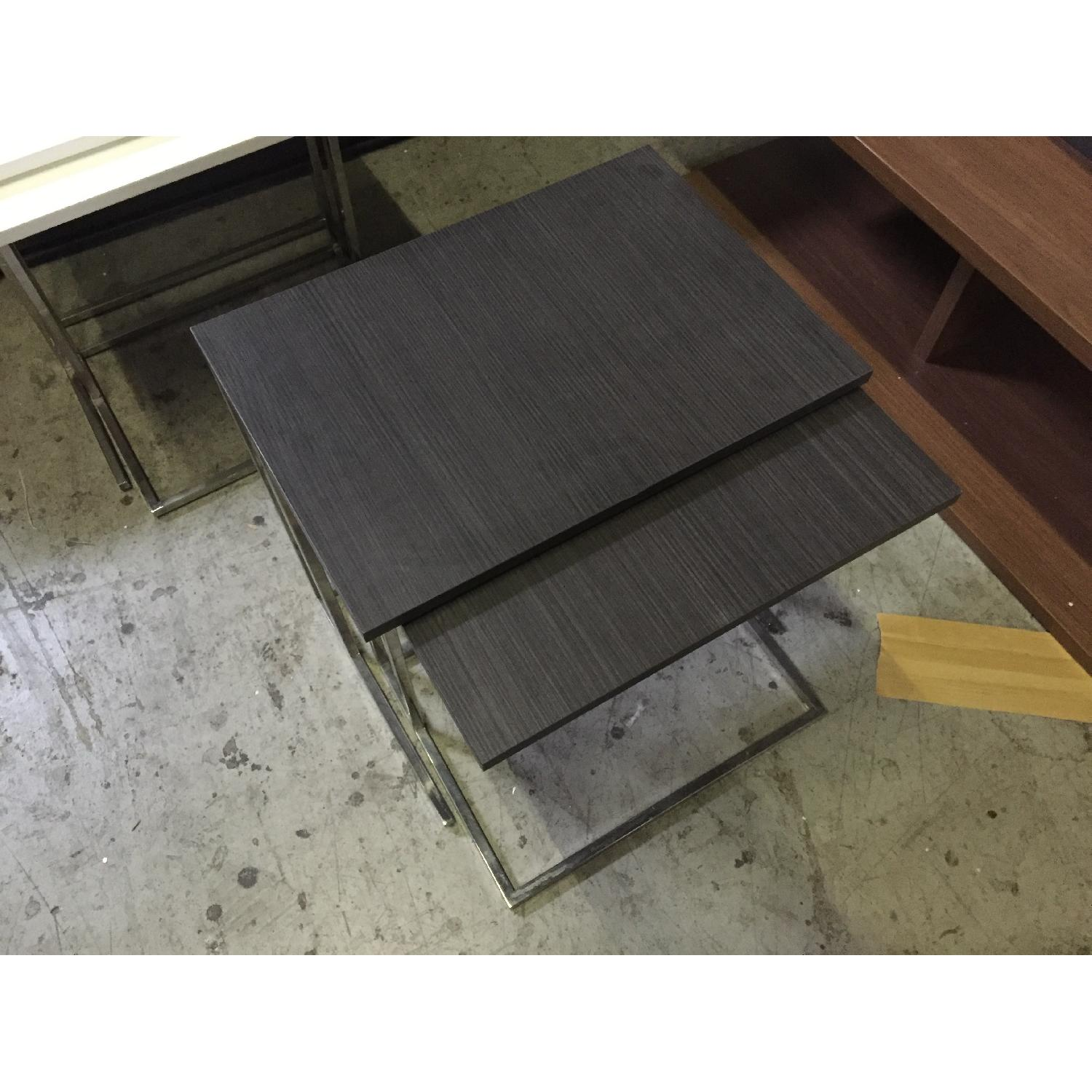 Lazzoni Brown Wood Nesting Tables - image-3
