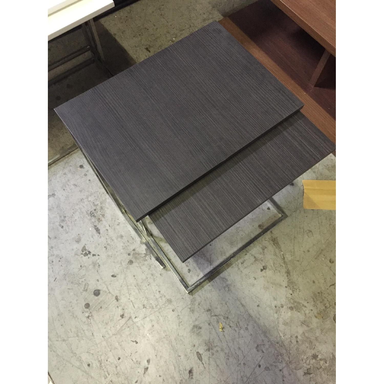 Lazzoni Brown Wood Nesting Tables - image-4