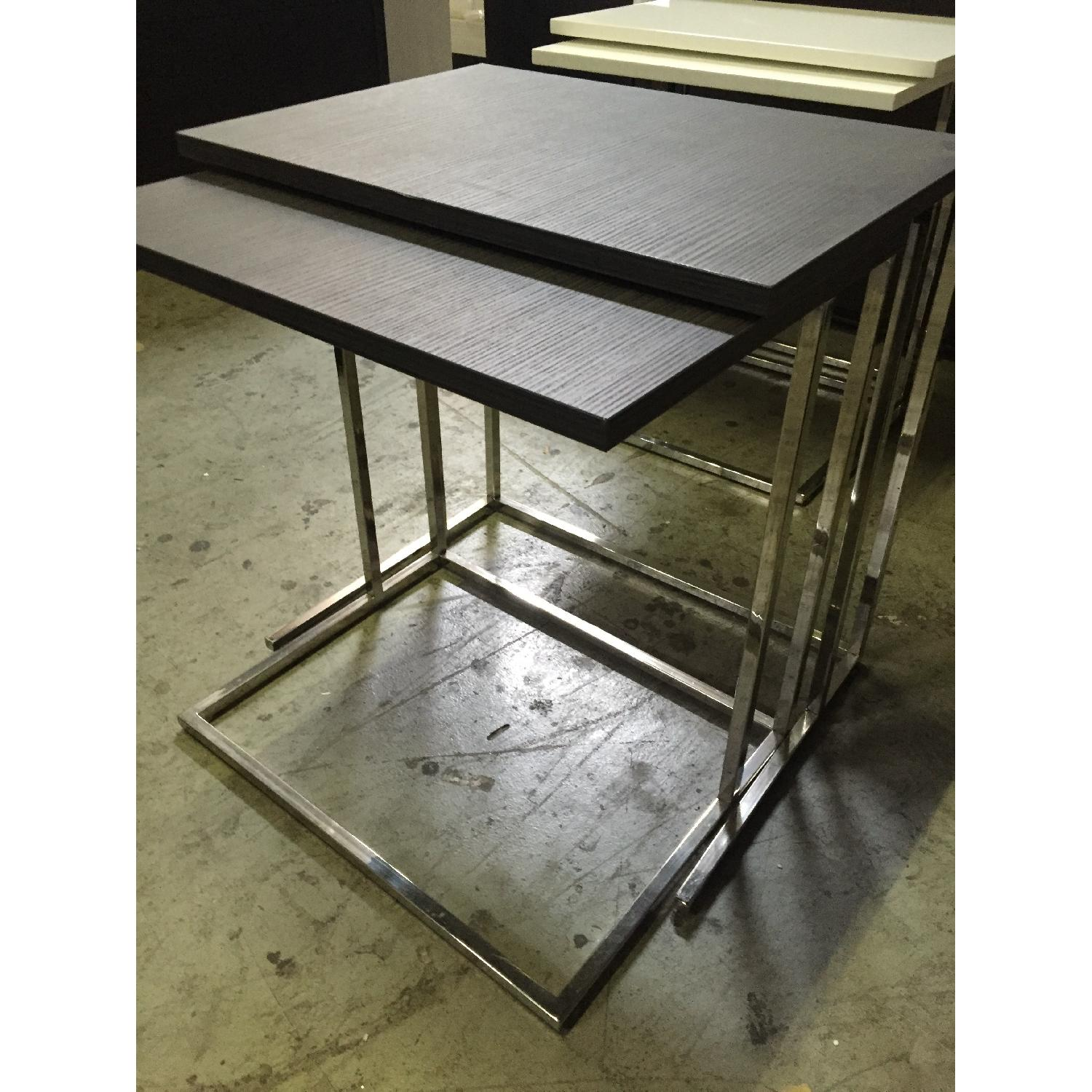 Lazzoni Brown Wood Nesting Tables - image-5