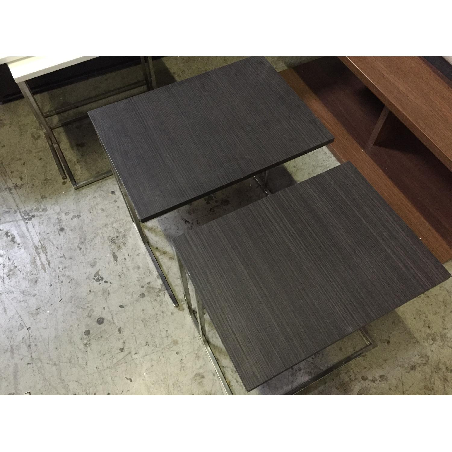 Lazzoni Brown Wood Nesting Tables - image-8