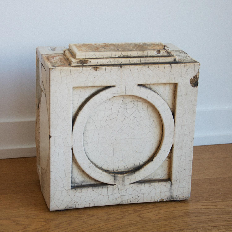 Antique Architecture Savage White Glazed Terra Cotta Block - image-3