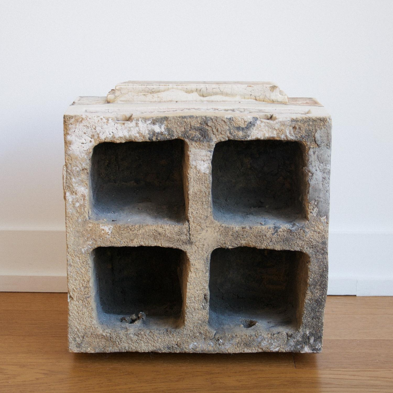 Antique Architecture Savage White Glazed Terra Cotta Block - image-4