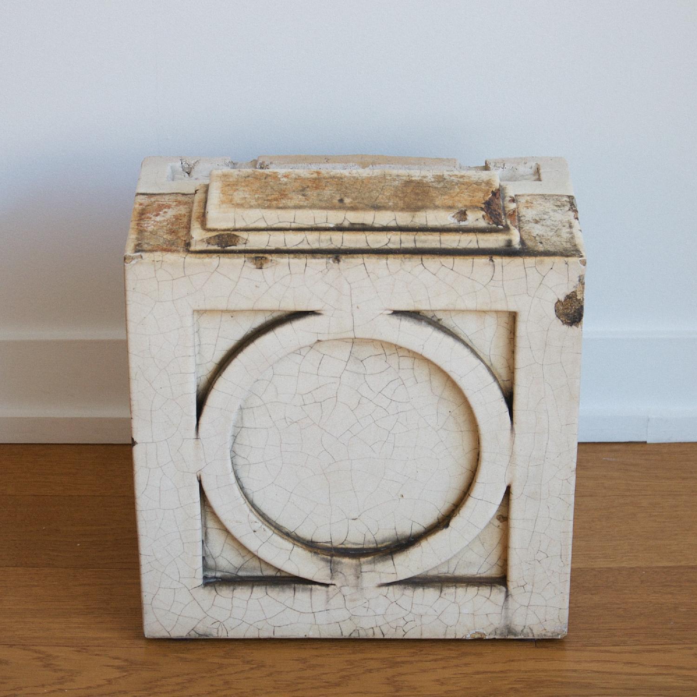 Antique Architecture Savage White Glazed Terra Cotta Block - image-5