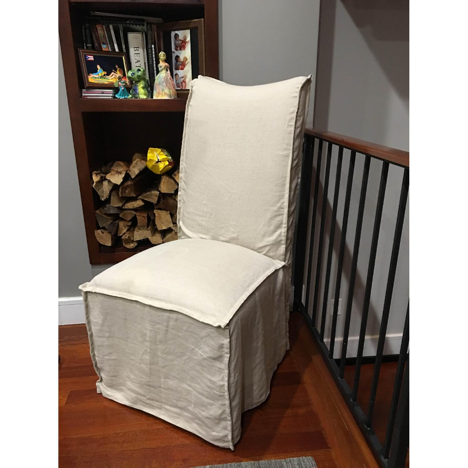 Lee Industries Slip-Covered Dining Chairs - image-1