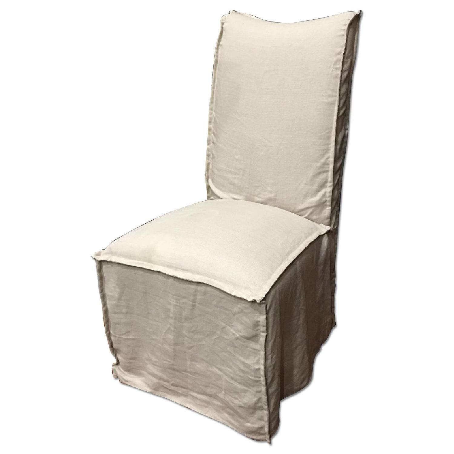 Lee Industries Slip-Covered Dining Chairs - image-0