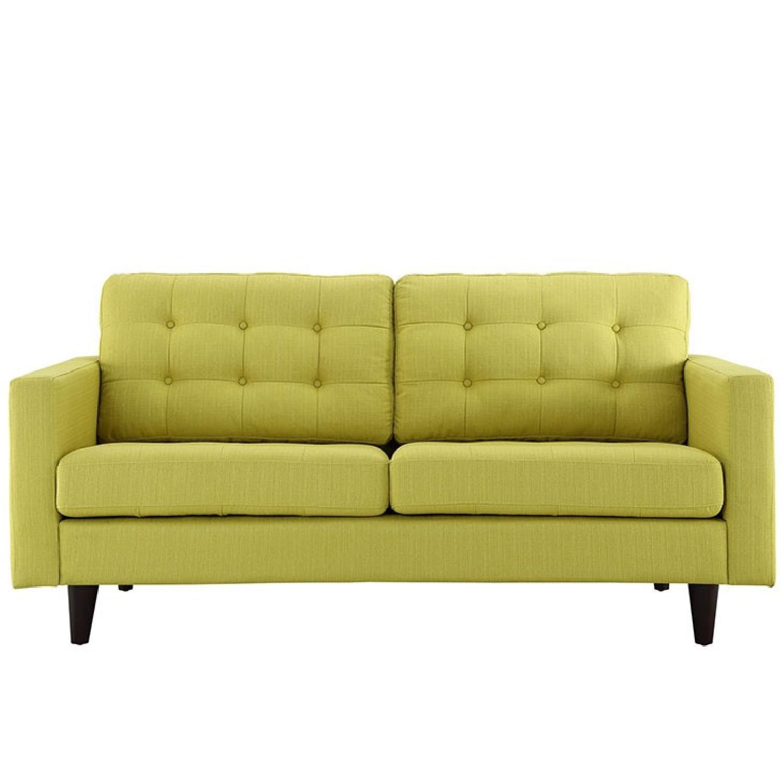 Mustard Tufted Back Sofa