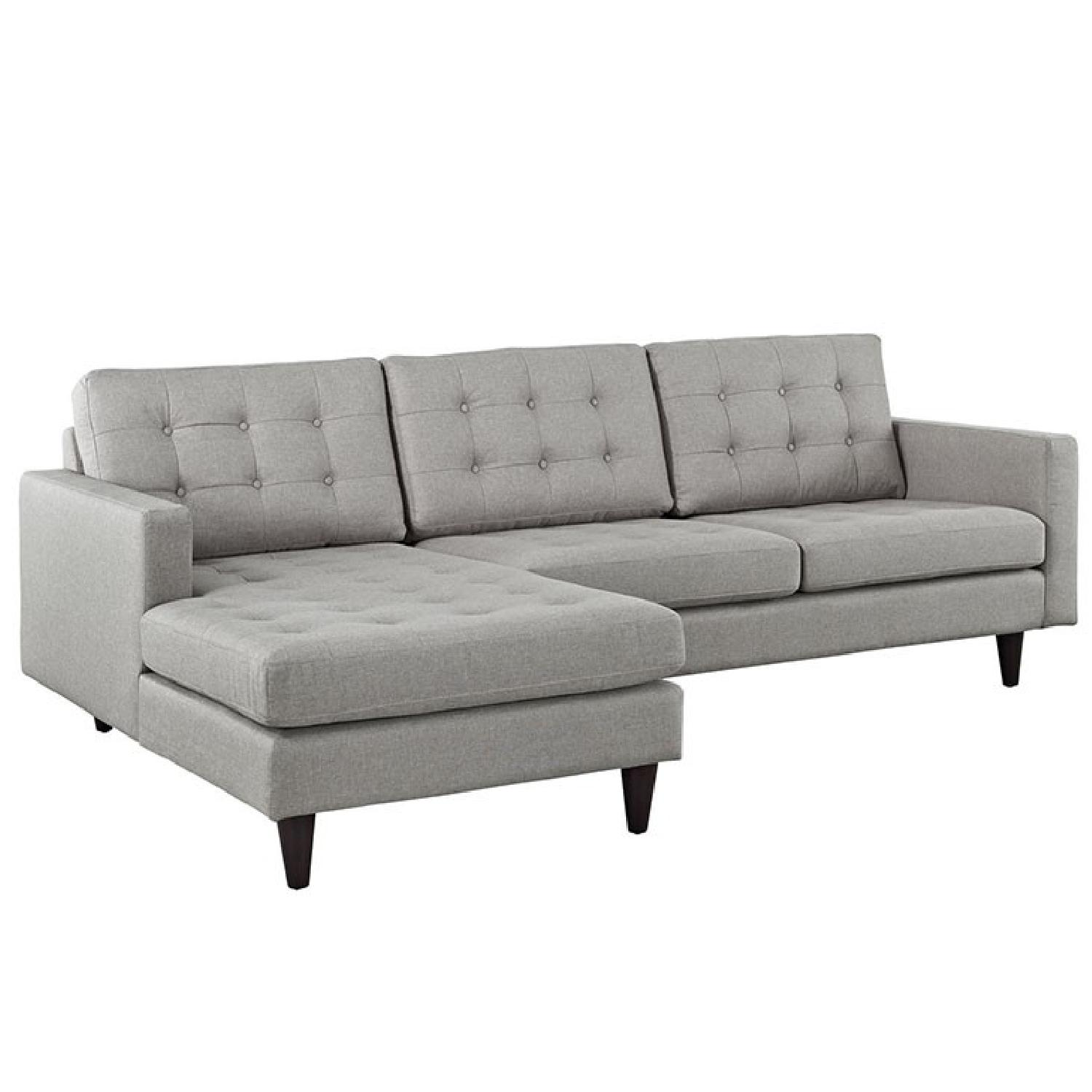 Modern Grey Couch w Chaise Lounge AptDeco