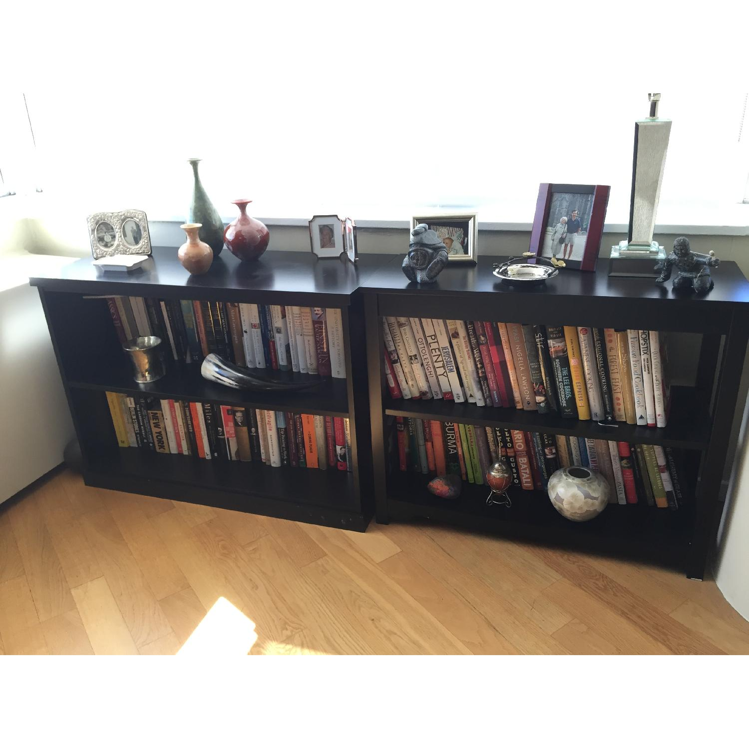 Pottery Barn Low Black Bookcase - image-3