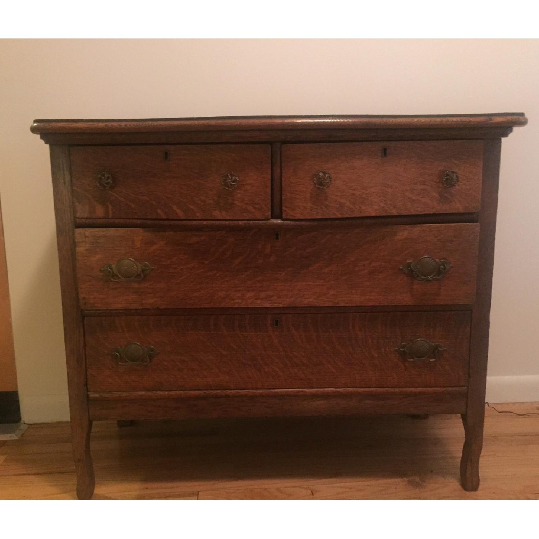 1920s Tiger Oak Dresser - image-1