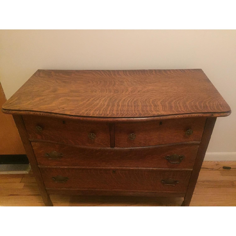 1920s Tiger Oak Dresser - image-2