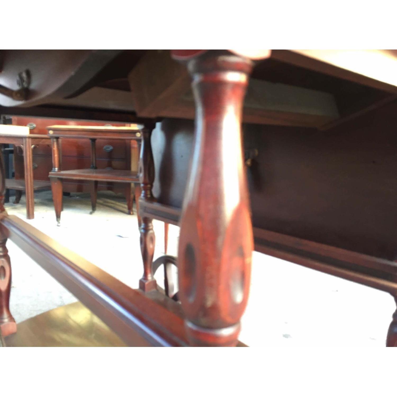 1930s Mahogany Bar Cart w/ Drop-Leaf Sides - image-10