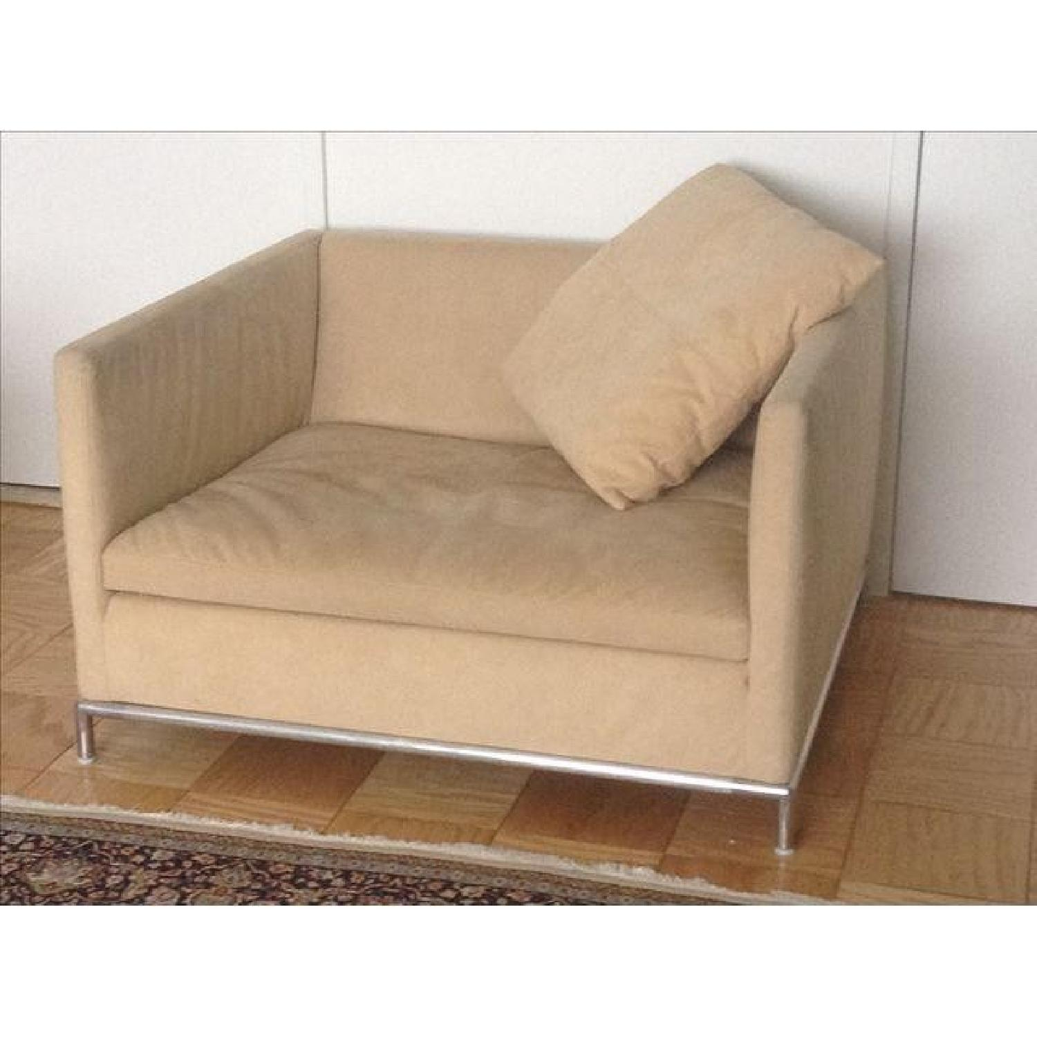 B&B Italia Ultrasuede Chair - image-1