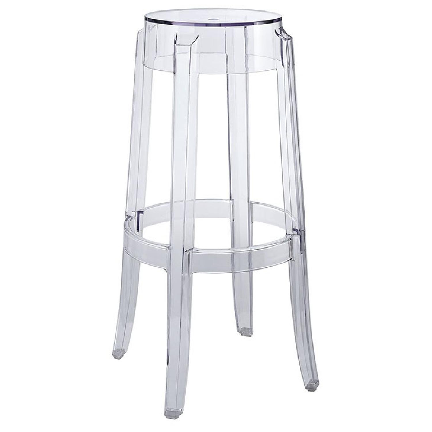 Clear Bar Stool - image-0