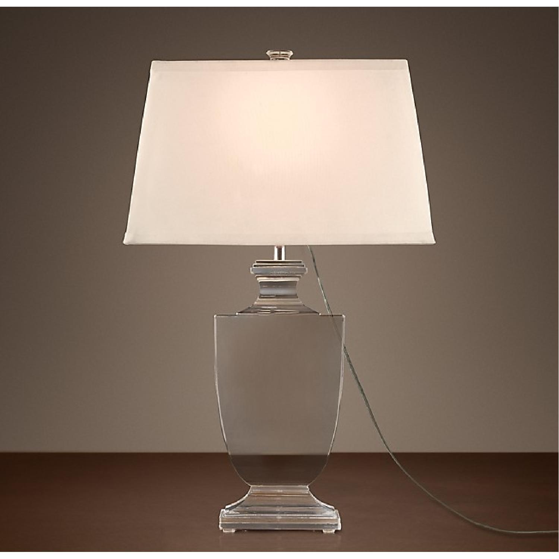 Restoration Hardware Palladian Crystal Urn Table Lamp