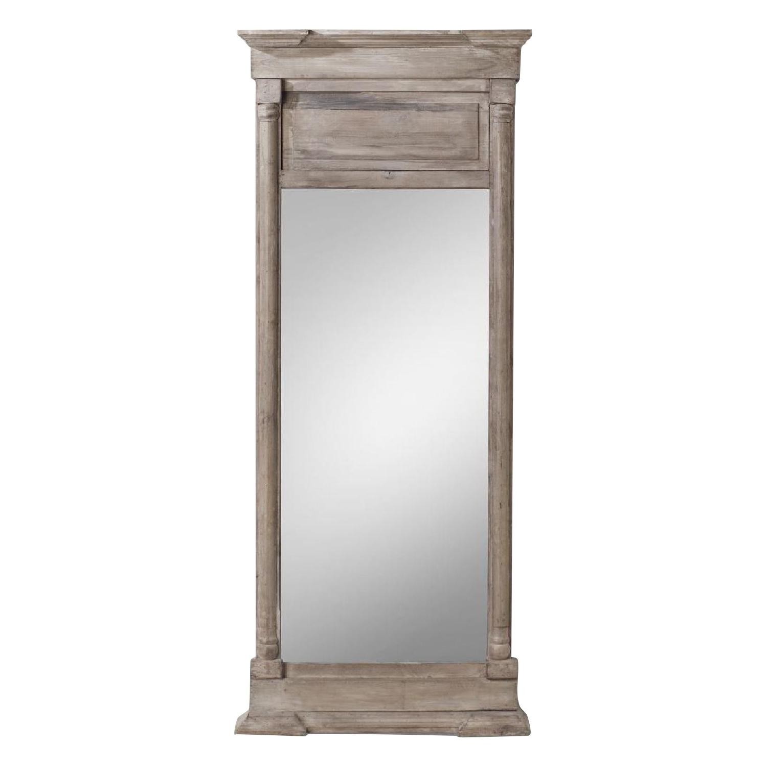 Restoration Hardware Hand-Carved Mirror