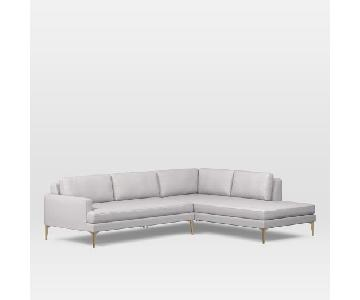 West Elm Andes Sectional Sofa w/ Terminal Chaise