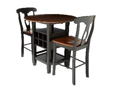 Homelegance 3-Piece Counter Height Set w/ Wine Storage