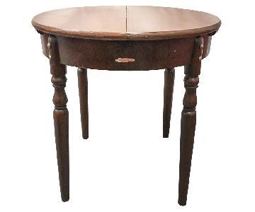 Vintage Chinese Wood Table w/ Leaf