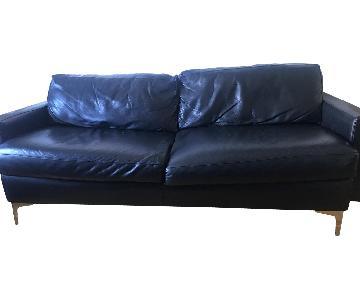 Jensen-Lewis Black Leather Sofa