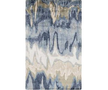 Surya Hand Tufted Blue Abstract Area Rug