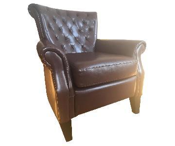 Joss & Main Brown Leather Chair