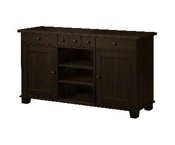 Ikea Dark Brown Buffet w/ Shelves