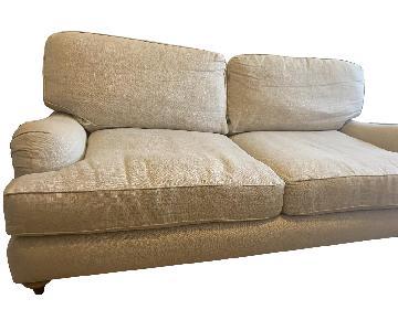 Restoration Hardware Sand Linen Sofa