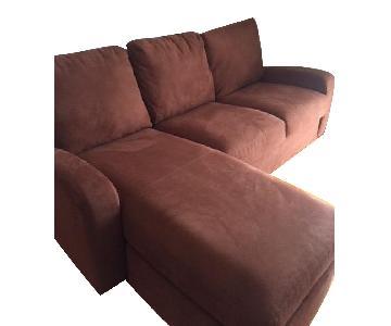 Crate & Barrel 2-Piece Sleeper Sectional Sofa