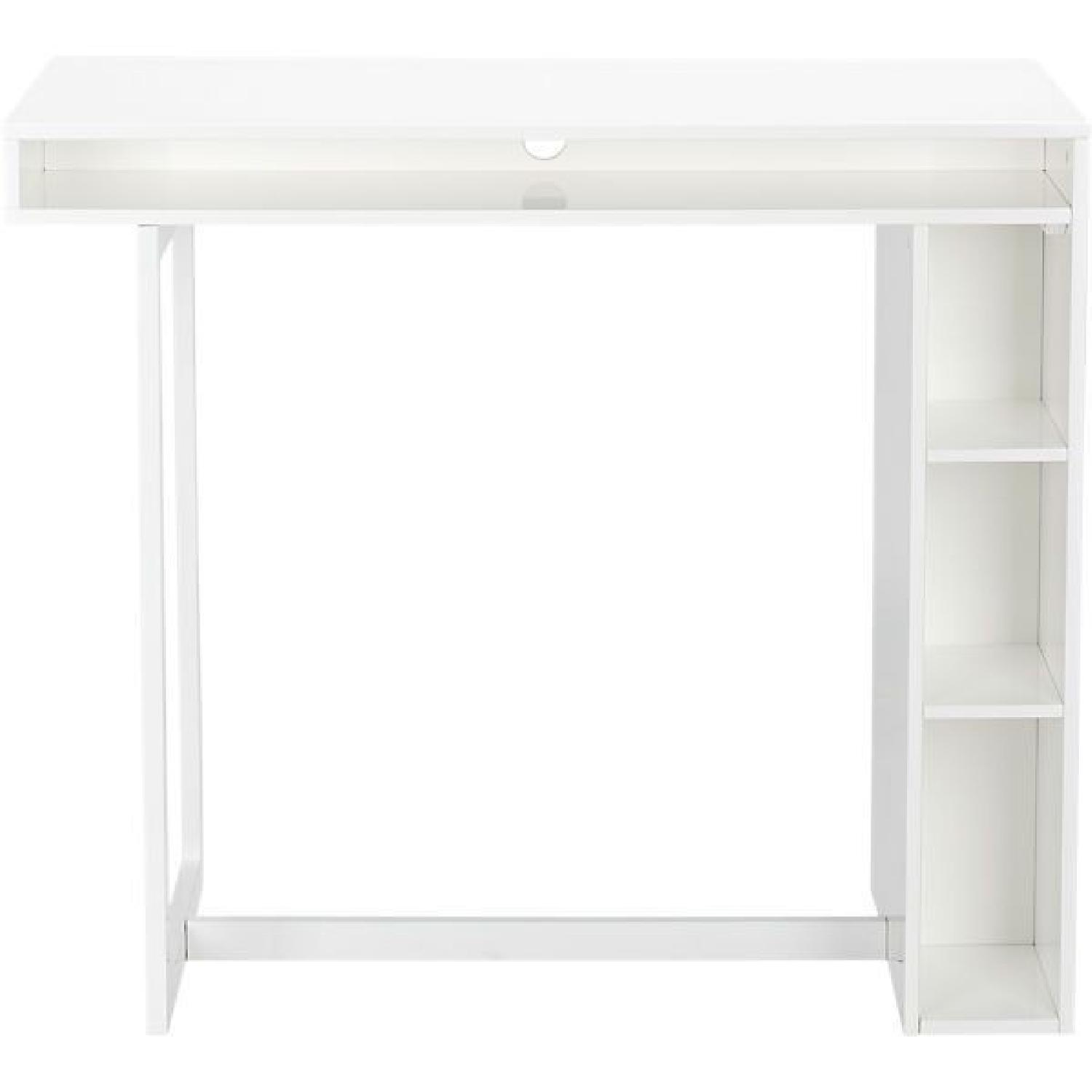 CB2 White High Dining Table