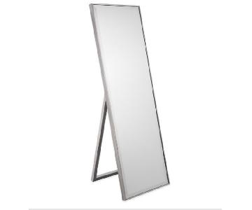 Floor Standing Mirror in Pewter