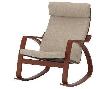 Ikea Poang Rocking Chair w/ Cushion