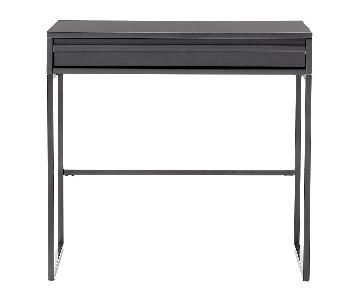 Container Store Anthracite Mod Desk