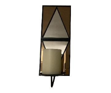 West Elm Gold Triangle Mirrors