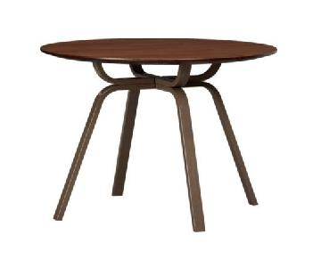 CB2 Round Wood & Metal Dining Table