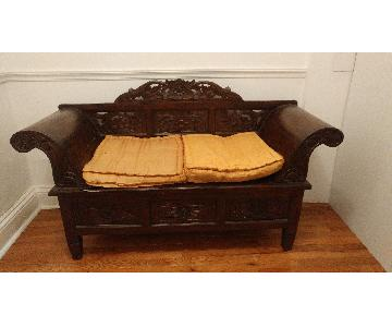 Hand-Carved Balinese Daybed