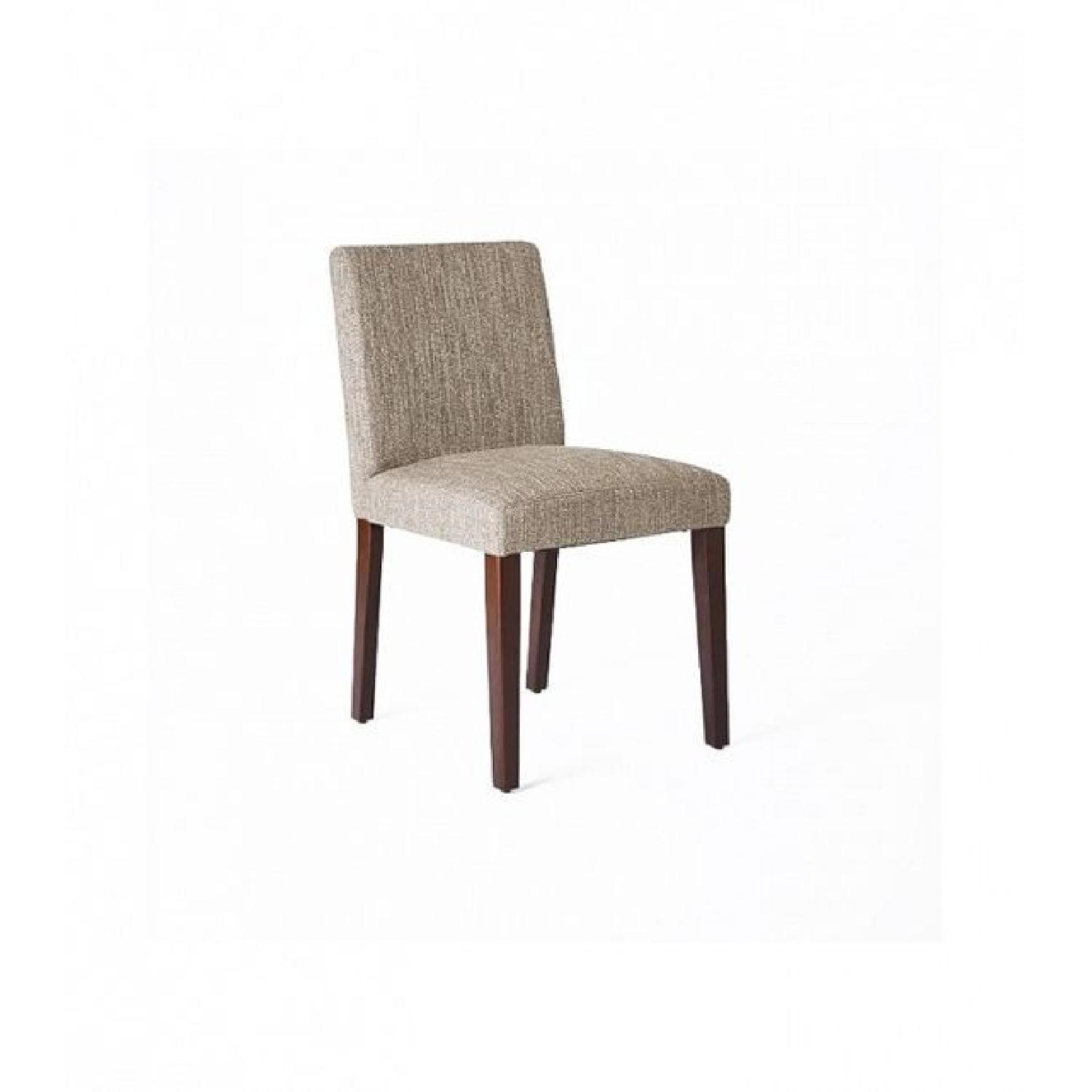 West Elm Upholstered Grey Dining Chairs